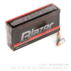 1000 Rounds of 9mm Ammo by Blazer - 147gr FMJ
