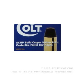 200 Rounds of .45 ACP Ammo by Colt - 185gr SCHP