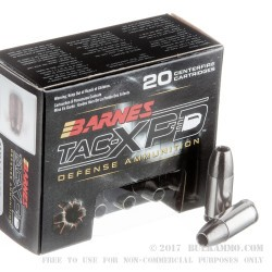 20 Rounds of 9mm Ammo by Barnes - 115gr HP