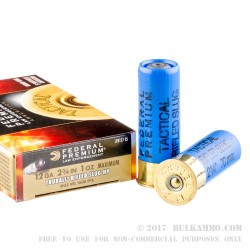 """50 Rounds of 12ga 2-3/4"""" Ammo by Federal Premium Tactical LE - 1 ounce - Rifled Slug"""