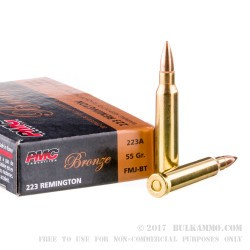 1000 Rounds of .223 Ammo by PMC - 55gr FMJBT