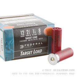 25 Rounds of 12ga Ammo by Federal - 1 1/8 ounce #8 shot
