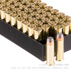 50 Rounds of .38 Spl Ammo by Fiocchi - 125gr SJHP