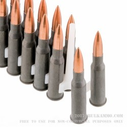 20 Rounds of 7.62x54r Ammo by Tula - 148gr FMJ