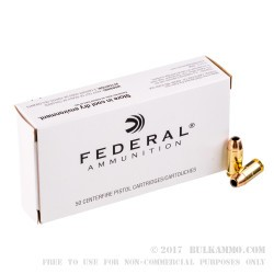 50 Rounds of .45 ACP Ammo by Federal Classic - 230gr JHP Hi-Shok
