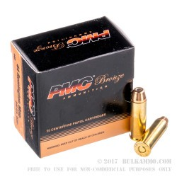 25 Rounds of .44 Mag Ammo by PMC - 240gr TC-SP