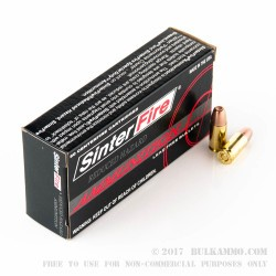 50 Rounds of 9mm Ammo by SinterFire - 90gr Frangible