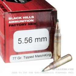 50 Rounds of 5.56x45 Ammo by Black Hills Ammunition - 77gr Polymer Tipped