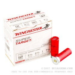 25 Rounds of 12ga Ammo by Winchester Super Target -  #7 1/2 shot
