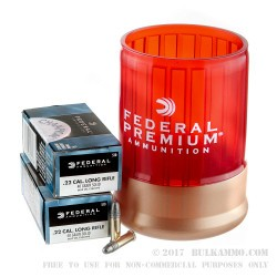 100 Rounds of .22 LR Ammo with a Can Cooler by Federal - 40gr LRN