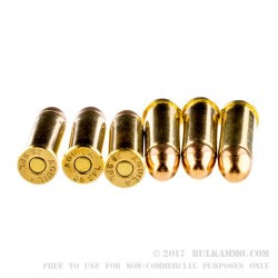 50 Rounds of .38 Spl Ammo by Aguila - 130gr FMJ