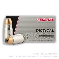 50 Rounds of .357 SIG Ammo by Federal Tactical LE - 125gr JHP