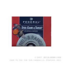 "25 Rounds of .410 Ammo by Federal Steel Game & Target - 3"" 3/8 oz. #6 shot"