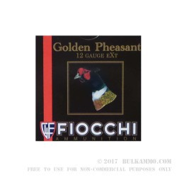 "250 Rounds of 12ga Ammo by Fiocchi Golden Pheasant - 3"" 1-5/8 oz. #6 shot Nickel Plated"