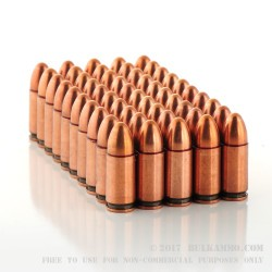 50 Rounds of 9mm Ammo by LVE - 115gr FMJ