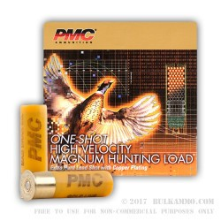 25 Rounds of 20ga Ammo by PMC -  #4 shot
