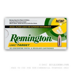 250 Rounds of .45 ACP Nickel Ammo by Remington - 230gr MC