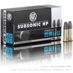 50 Rounds of .22 LR Ammo by RWS - 40gr HP