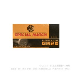 500  Rounds of .22 LR Ammo by RWS - 40gr LRN