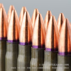 20 Rounds of 7.62x39mm Ammo by Golden Tiger - 124gr FMJBT