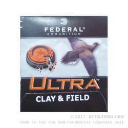 """250 Rounds of 12ga Ammo by Federal Ultra Clay and Field - 2-3/4"""" 1 1/8 ounce #7 1/2 shot"""