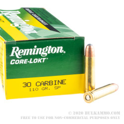 50 Rounds of .30 Carbine Ammo by Remington Express - 110gr SP