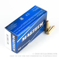 50 Rounds of .357 Mag Ammo by Magtech - 158gr FMJ FN