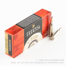 20 Rounds of .243 Win Ammo by Federal Vital-Shok - 70gr Nosler Ballistic Tip