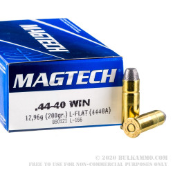 50 Rounds of .44-40 Win Ammo by Magtech - 200gr LFN