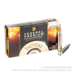 20 Rounds of .223 Ammo by Federal LE Tactical - 55gr Bonded SP