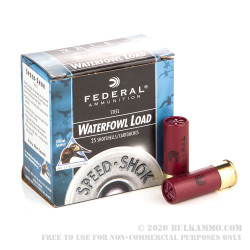 250 Rounds of 12ga Ammo by Federal - 1 ounce #6 Shot (Steel)