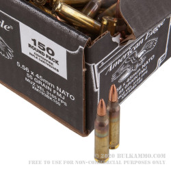 600 Rounds of 5.56x45 Ammo by Federal American Eagle -  55 Grain FMJ