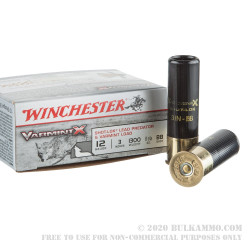 "100 Rounds of 12ga Ammo by Winchester Varmint-X - 3"" 1 1/2 ounce BB Shot"