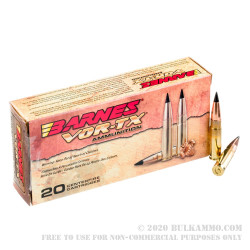 20 Rounds of .300 AAC Blackout Ammo by Barnes VOR-TX - 110gr TAC-TX FB