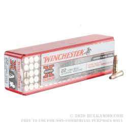 100 Rounds of .22 LR Ammo by Winchester Super-X - 40gr HP