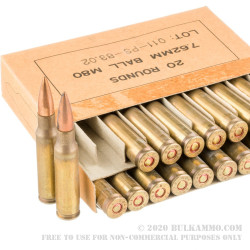 460 Rounds of 7.62x51mm Ammo in Ammo Can by PMC - 146gr FMJ