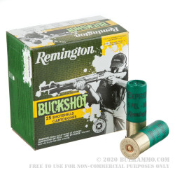 25 Rounds of 12ga Ammo by Remington -  00 Buck