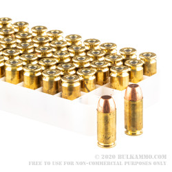 1000 Rounds of .40 S&W Ammo by Speer Lawman Clean-Fire - 165gr TMJ FN