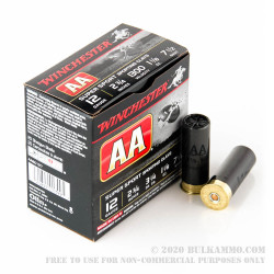 "25 Rounds of 12ga Ammo by Winchester AA Sporting Clay - 2-3/4"" 1 1/8 ounce #7 1/2 shot"