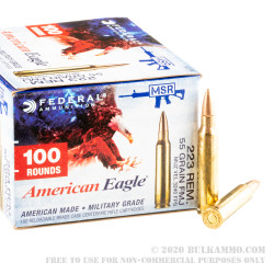 1000 Rounds of .223 Ammo by Federal - 55gr FMJ