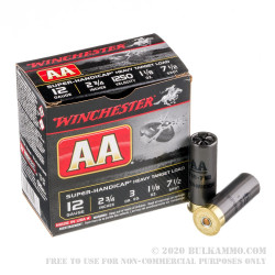 "25 Rounds of 12ga 2-3/4"" Ammo by Winchester - 1 1/8 ounce #7 1/2 shot"