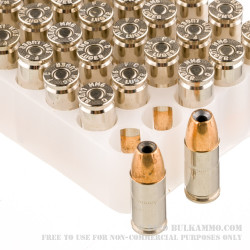 1000 Rounds of 9mm Ammo by Federal LE Hydra Shok - 124gr JHP
