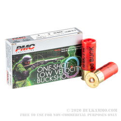 250 Rounds of 12ga Ammo by PMC LE Low Velocity - 9 Pellet 00 Buck