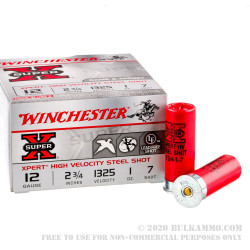 250 Rounds of 12ga Ammo by Winchester Xpert - 1 ounce #7 Shot (Steel)