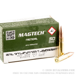 500 Rounds of .300 AAC Blackout Subsonic Ammo by Magtech - 200gr FMJ