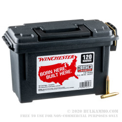 120 Rounds of .350 Legend Ammo in Field Box by Winchester USA - 145gr FMJ