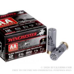 """25 Rounds of 12ga Ammo by Winchester AA TrAAcker - 2-3/4"""" 1 1/8 ounce #7-1/2 shot"""