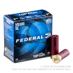 250 Rounds of 12ga Ammo by Federal - 1 ounce #8 shot