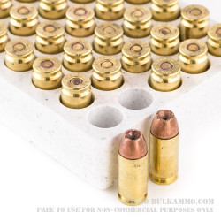 500 Rounds of .40 S&W Ammo by Winchester - 180gr JHP Bonded