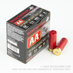 25 Rounds of 12ga Ammo by Winchester AA Low Recoil/Low Noise - 7/8 ounce #8 shot